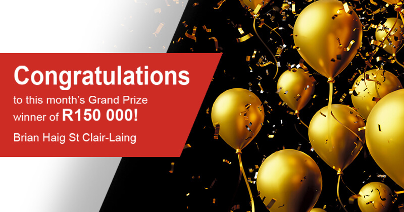 DirectAxis Competition winner of R150 000 cash _Brian Haig St Clair-Laing